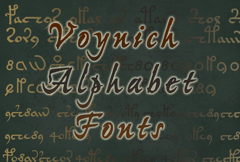 Voynich Alphabet Fonts